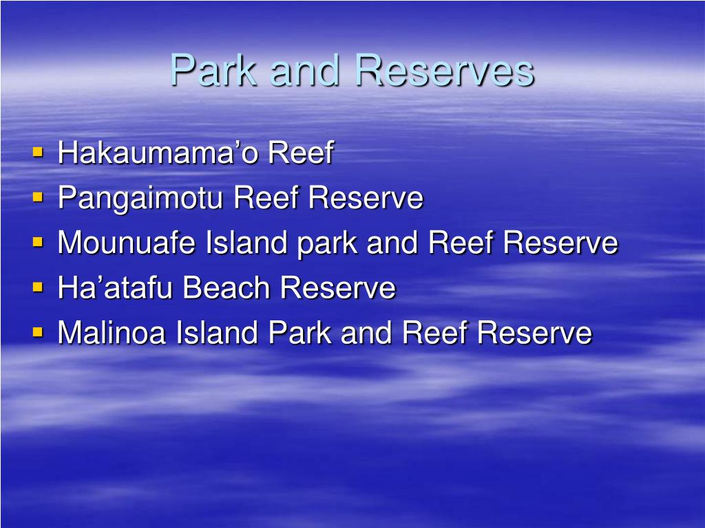 Park and Reserves