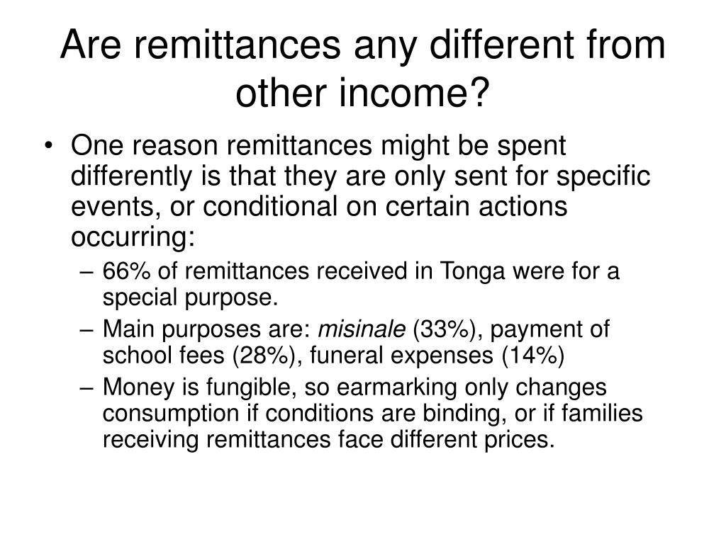 Are remittances any different from other income?