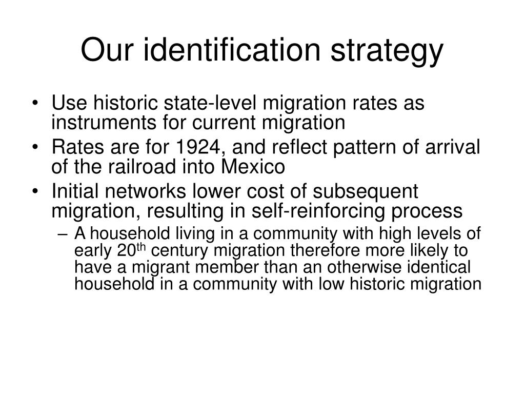 Our identification strategy