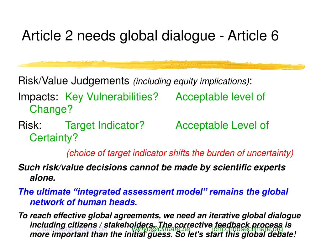 Article 2 needs global dialogue - Article 6