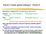 article 2 needs global dialogue article 6