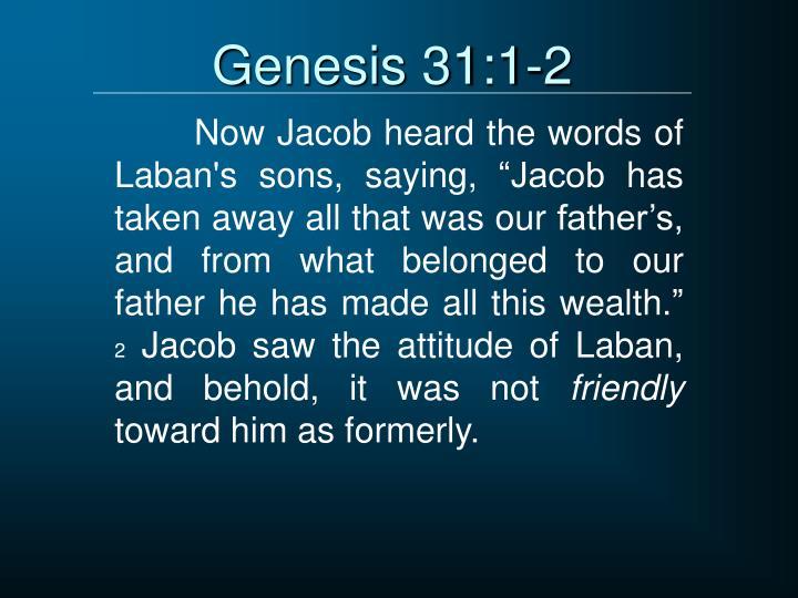 Genesis 31:1-2