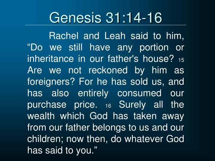 Genesis 31:14-16