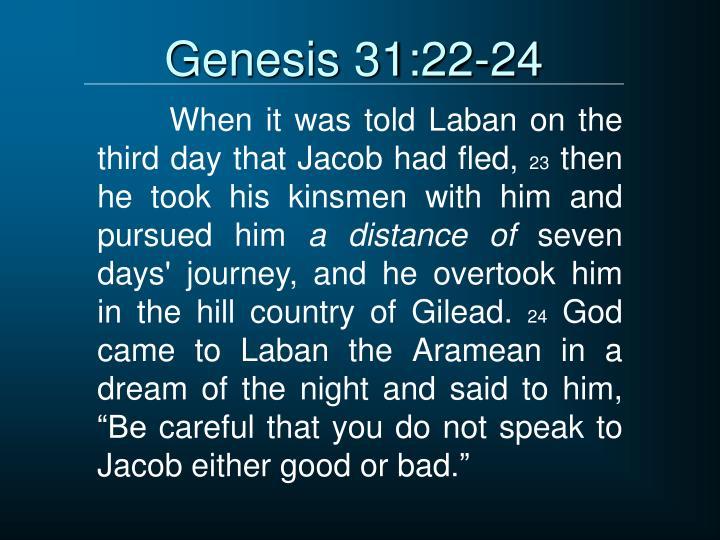 Genesis 31:22-24
