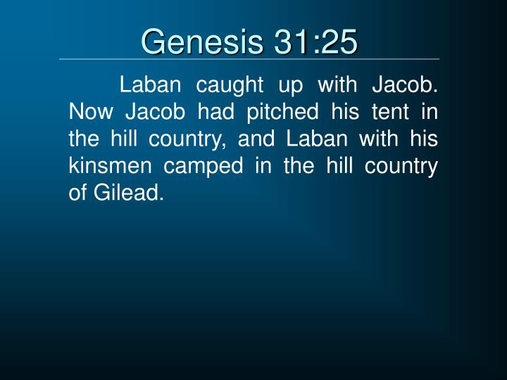 Genesis 31:25