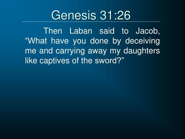 Genesis 31:26