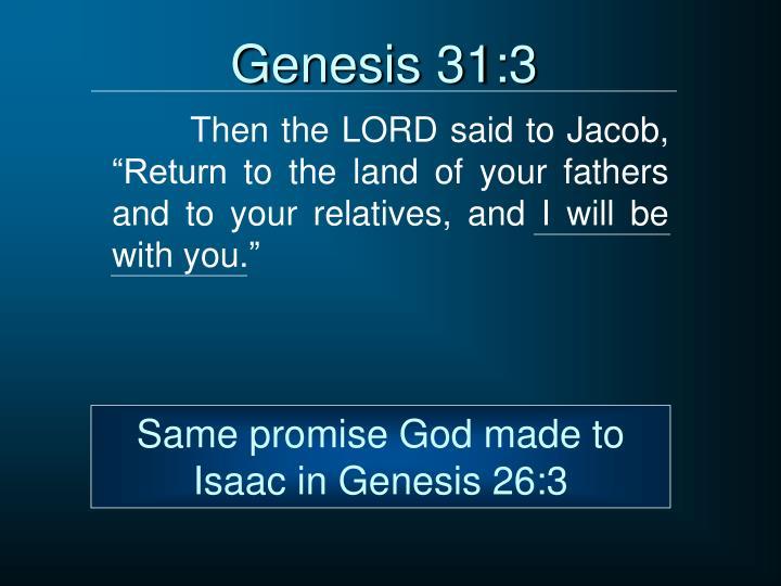 Genesis 31:3