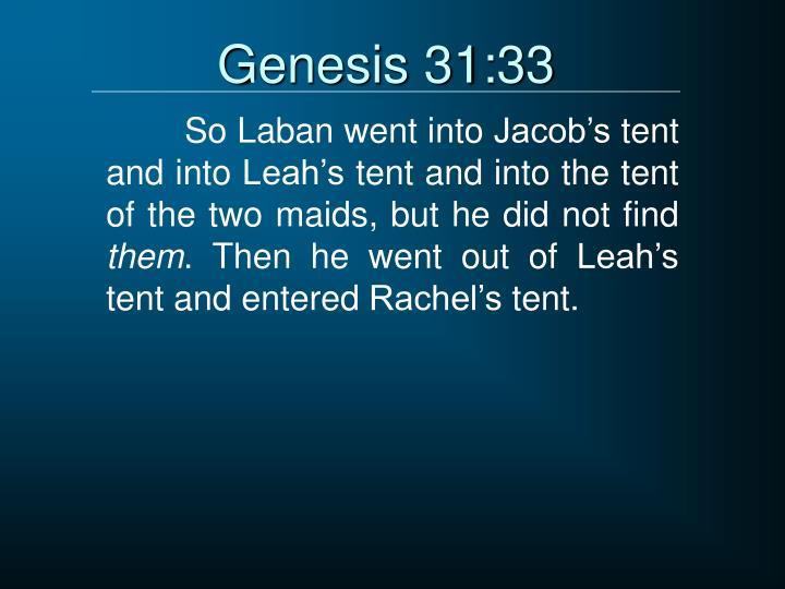 Genesis 31:33