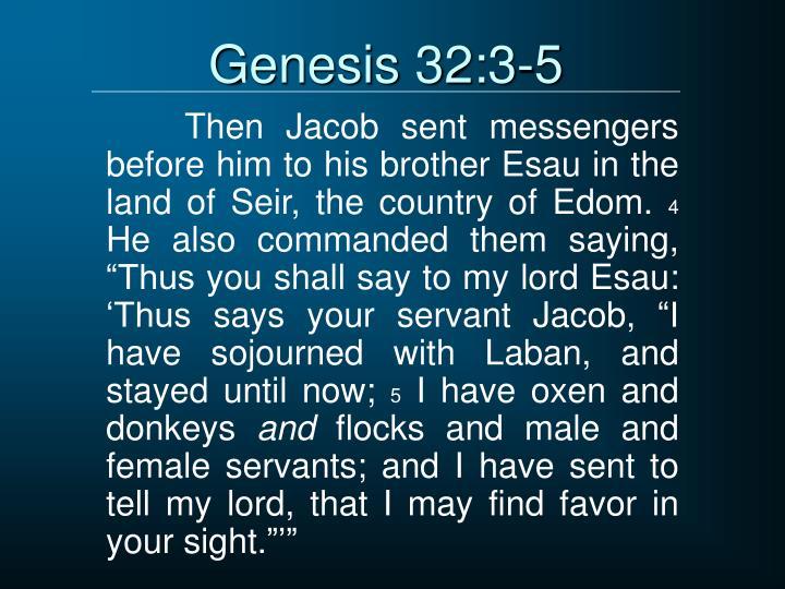 Genesis 32:3-5
