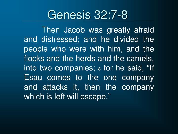 Genesis 32:7-8