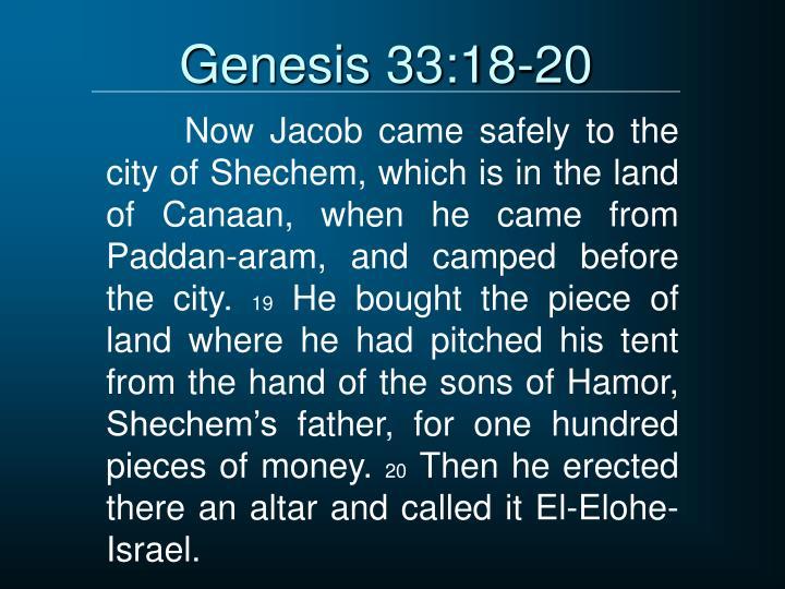 Genesis 33:18-20