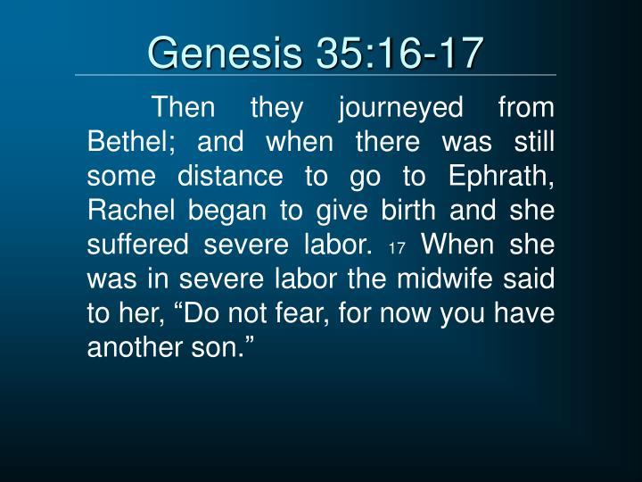 Genesis 35:16-17