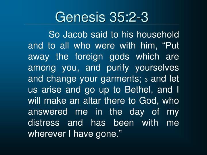 Genesis 35:2-3