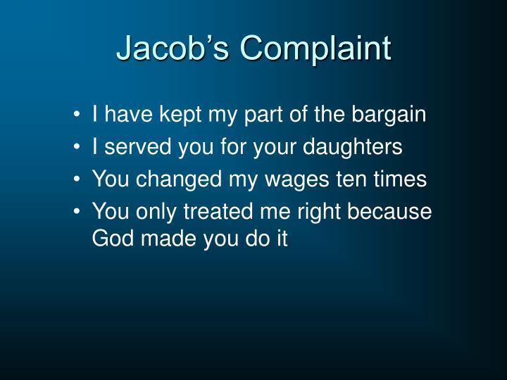 Jacob's Complaint