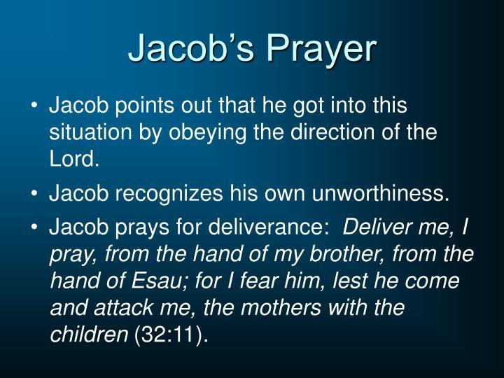 Jacob's Prayer