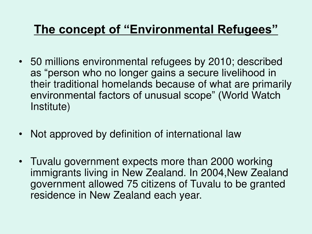 """The concept of """"Environmental Refugees"""""""