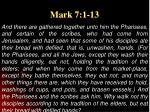 mark 7 1 13