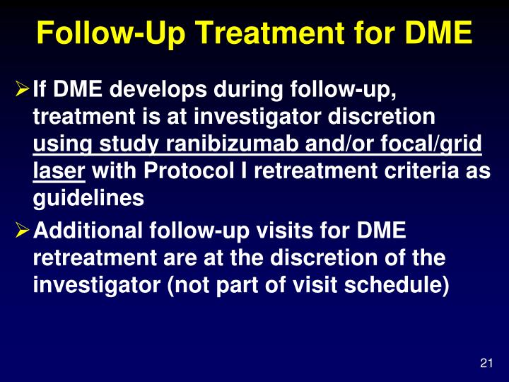 Follow-Up Treatment for DME