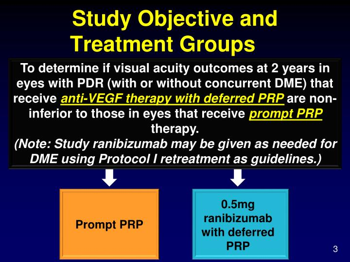 Study objective and treatment groups