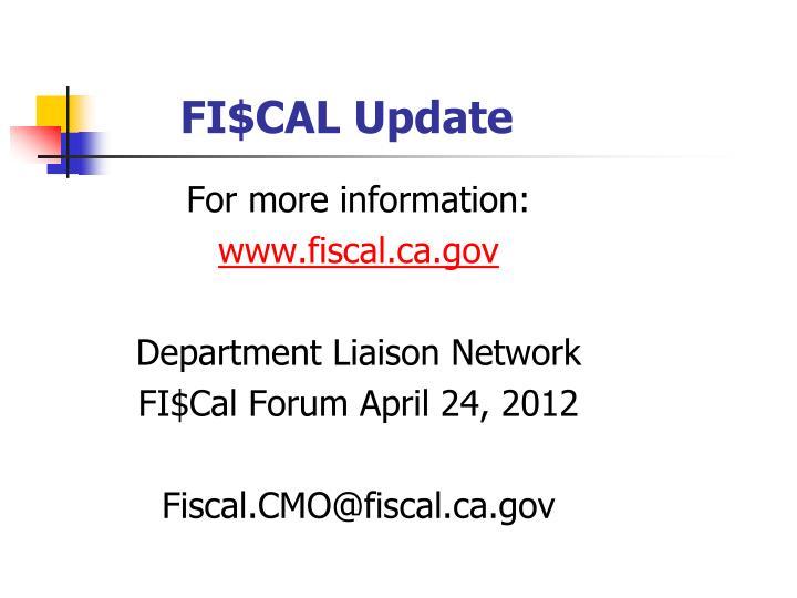 FI$CAL Update