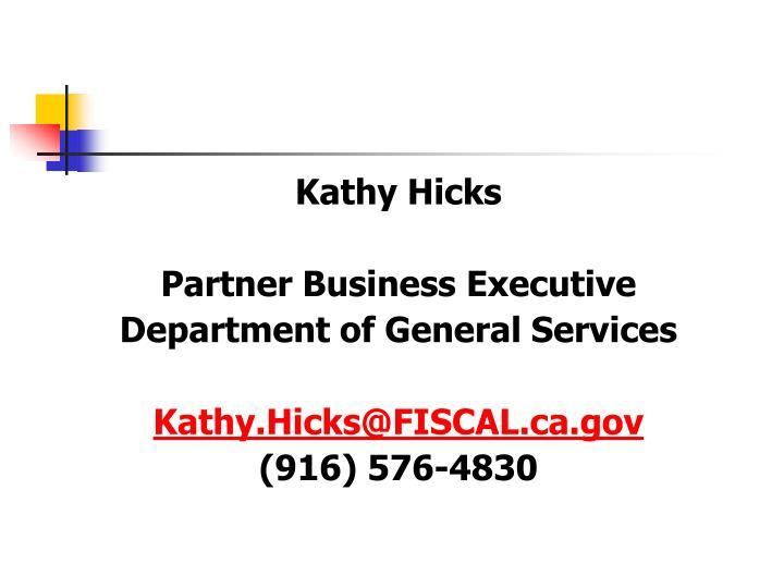 Kathy Hicks