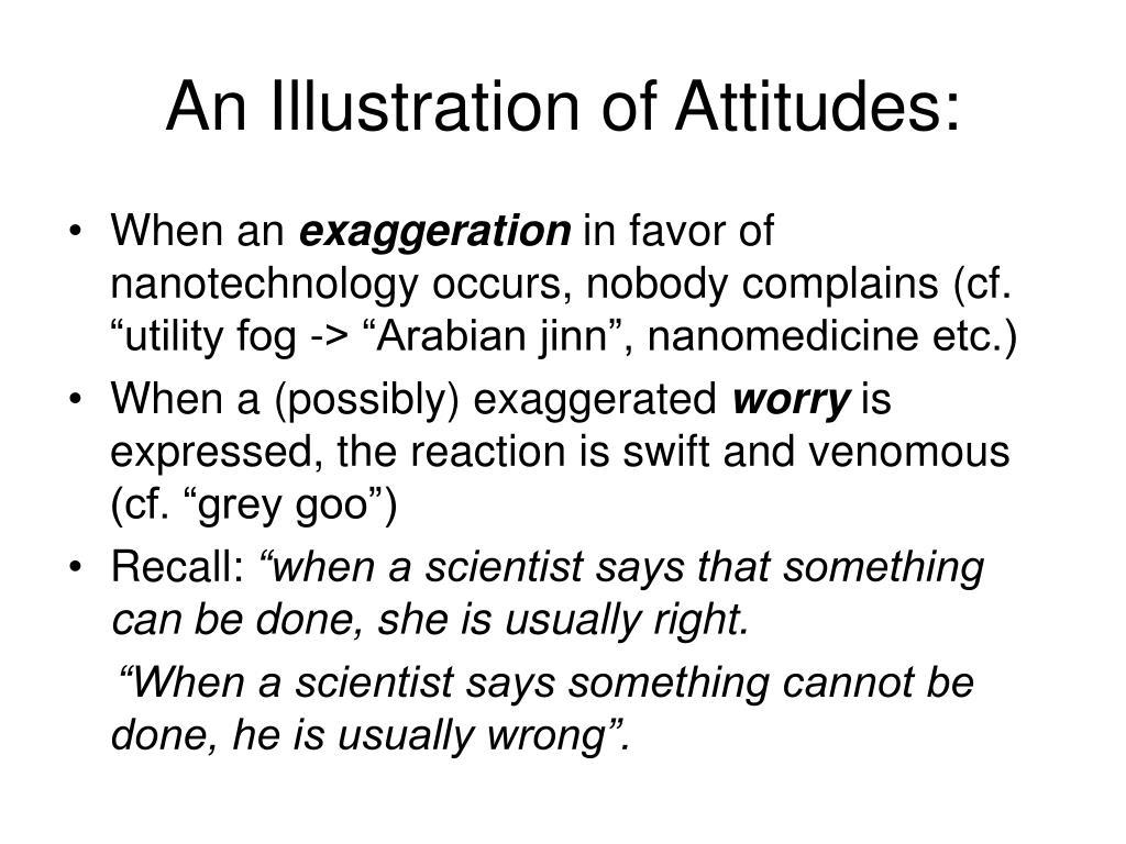 An Illustration of Attitudes: