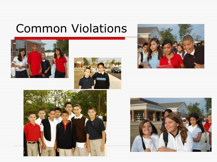 Common Violations