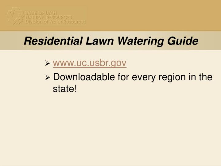 Residential Lawn Watering Guide