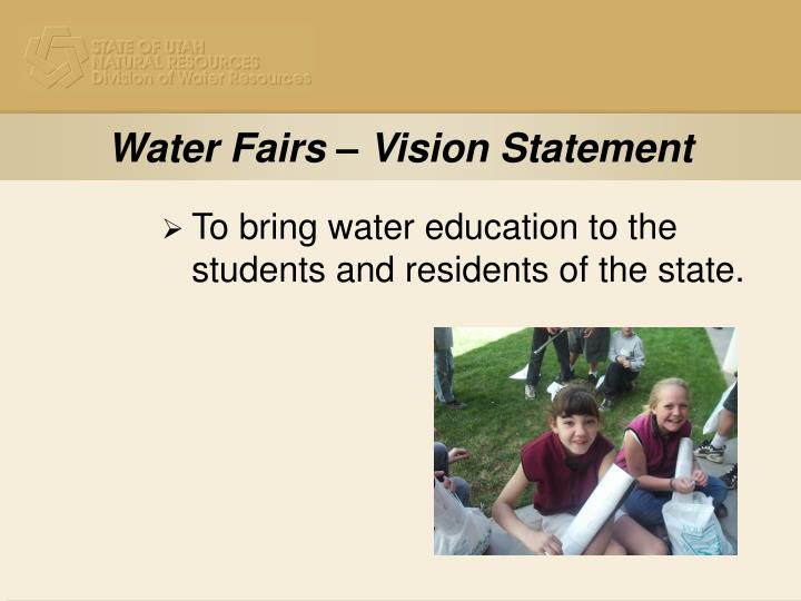 Water fairs vision statement