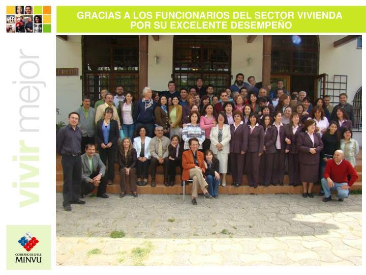 GRACIAS A LOS FUNCIONARIOS DEL SECTOR VIVIENDA