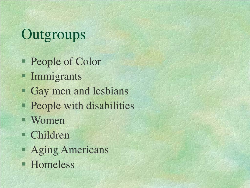 Outgroups