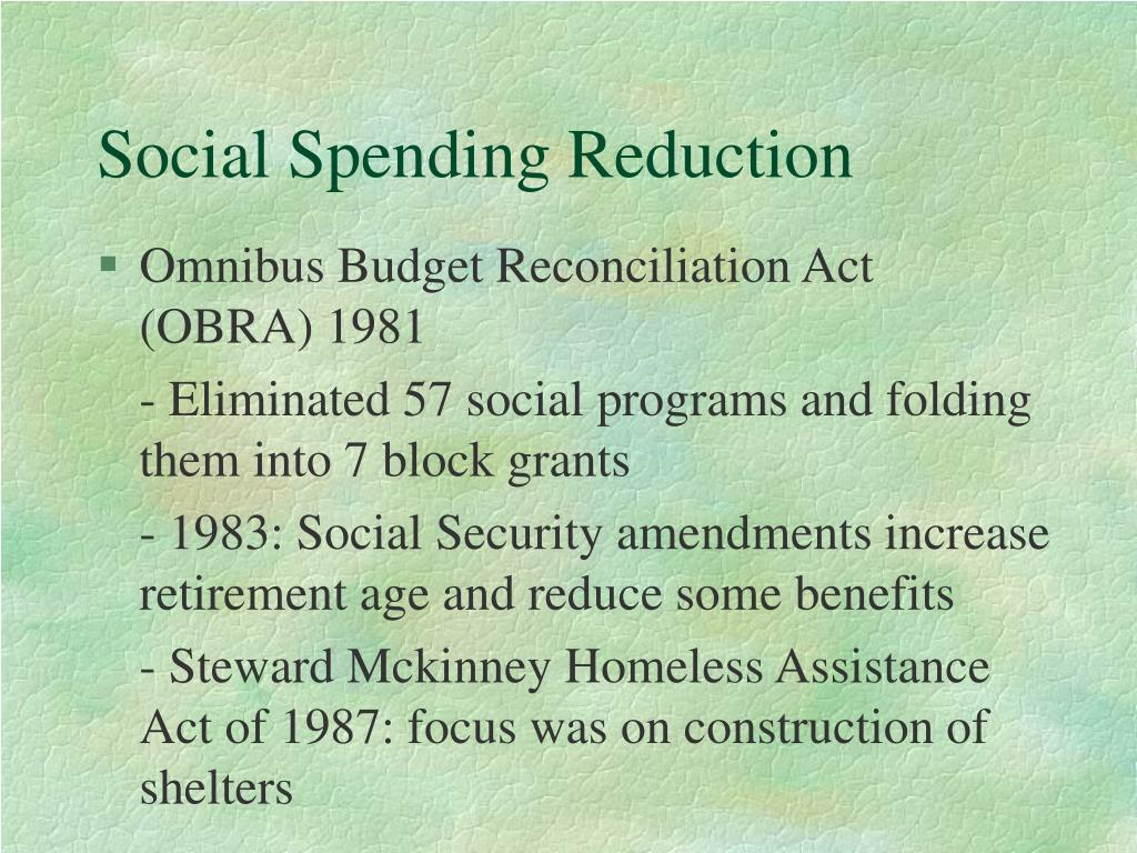 Social Spending Reduction