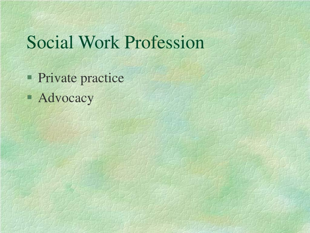 Social Work Profession