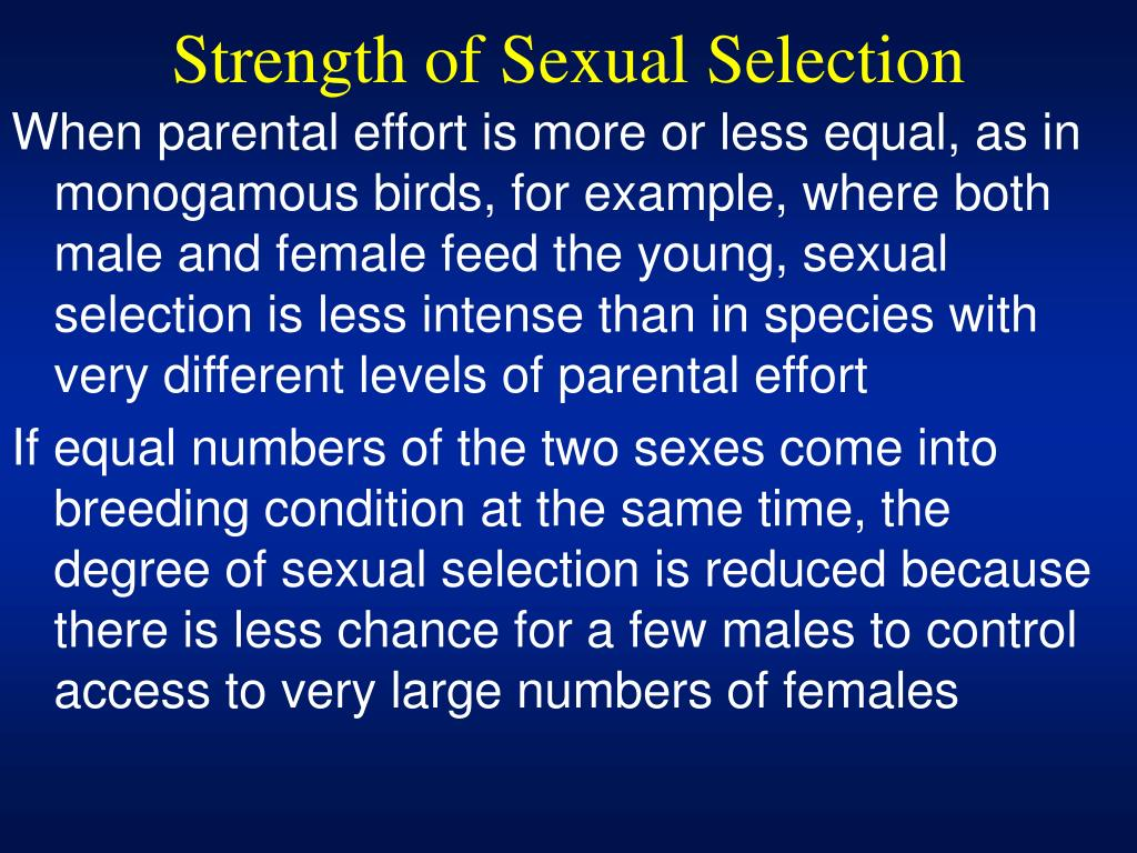 Strength of Sexual Selection