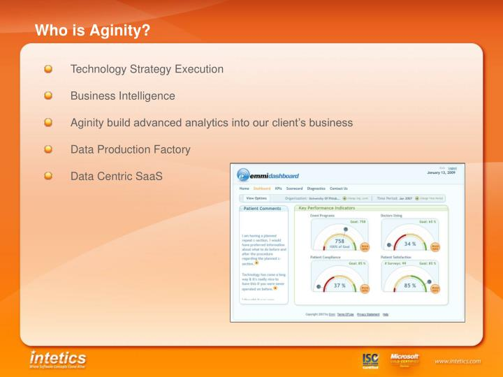Who is Aginity?