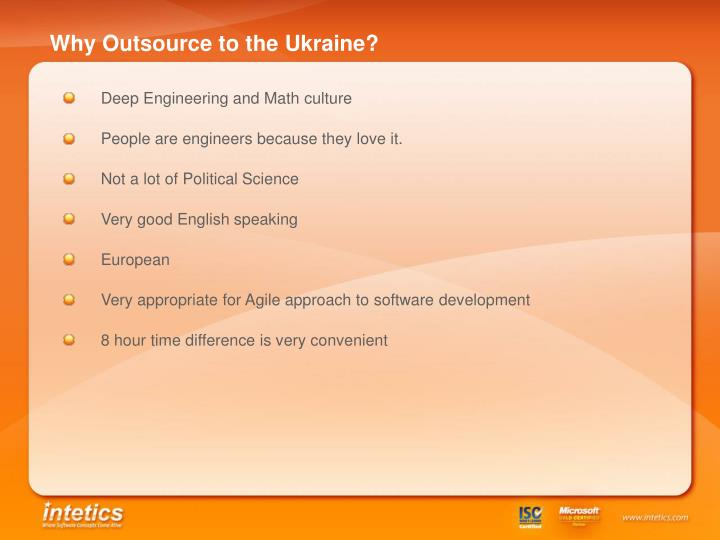 Why Outsource to the Ukraine?