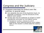 congress and the judiciary