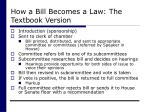 how a bill becomes a law the textbook version