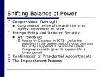 shifting balance of power