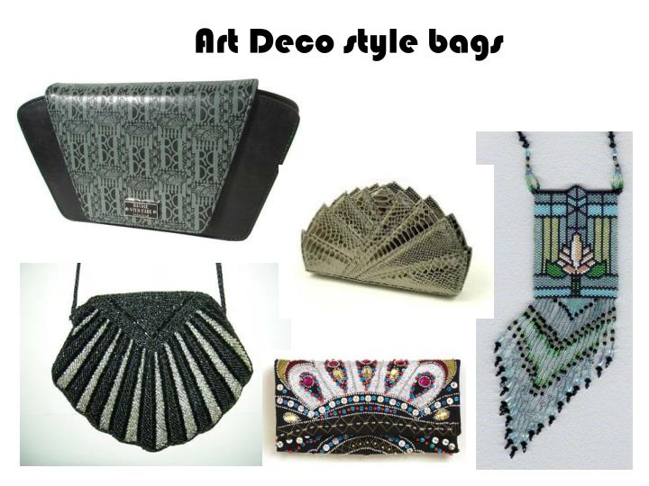 Art Deco style bags