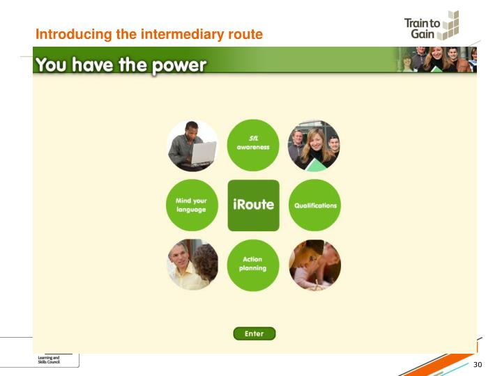 Introducing the intermediary route