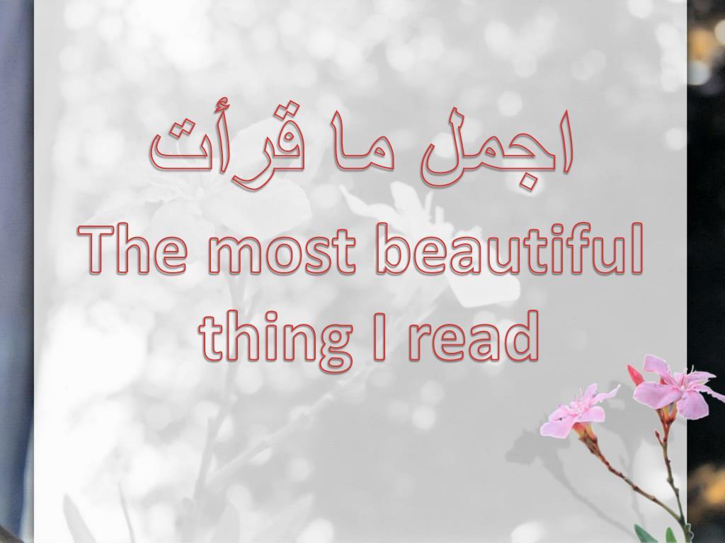 اجمل ما قرأت