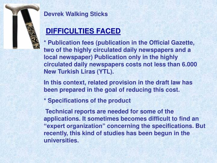 Devrek Walking Sticks