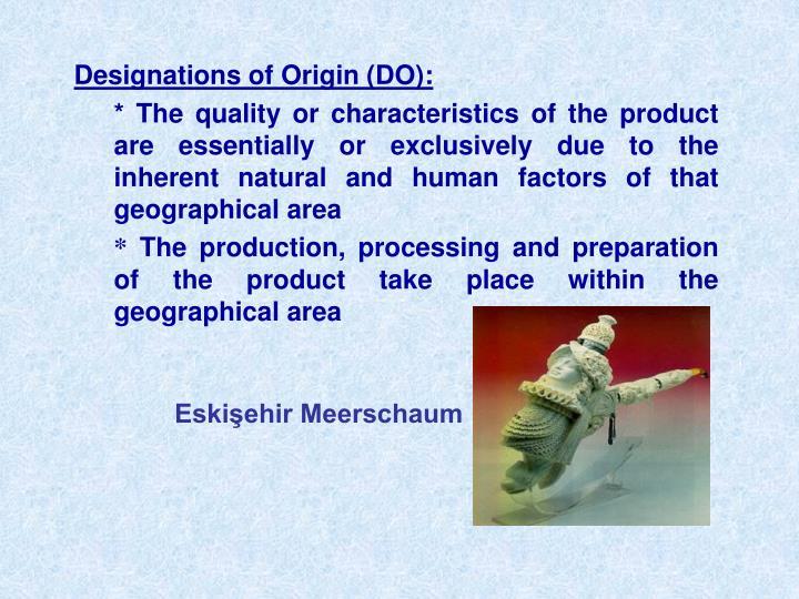 Designations of Origin
