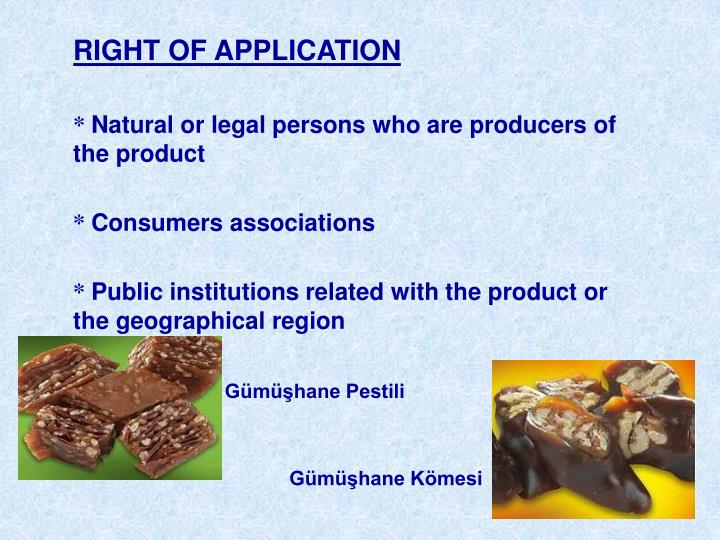 RIGHT OF APPLICATION