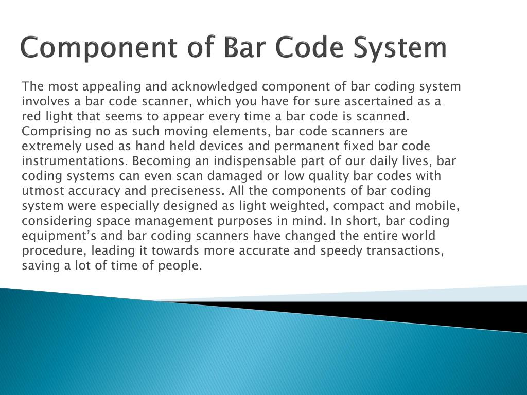 Component of Bar Code System