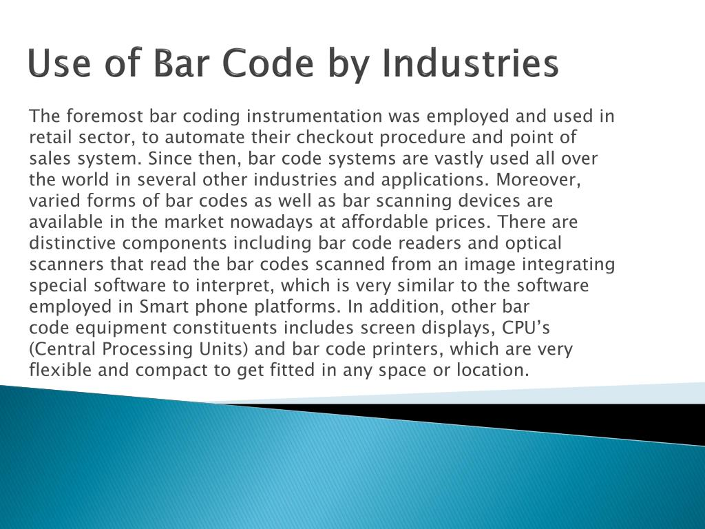 Use of Bar Code by Industries