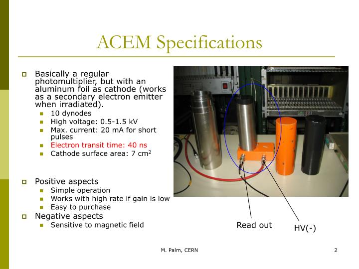 Acem specifications