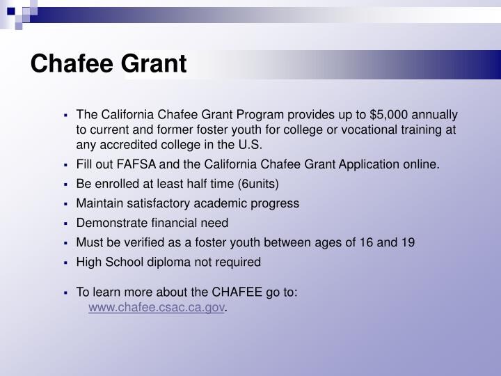 Chafee Grant