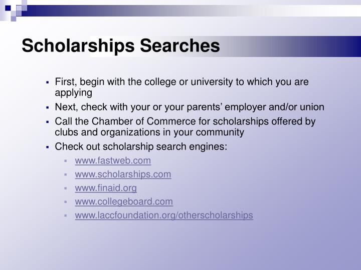 Scholarships Searches